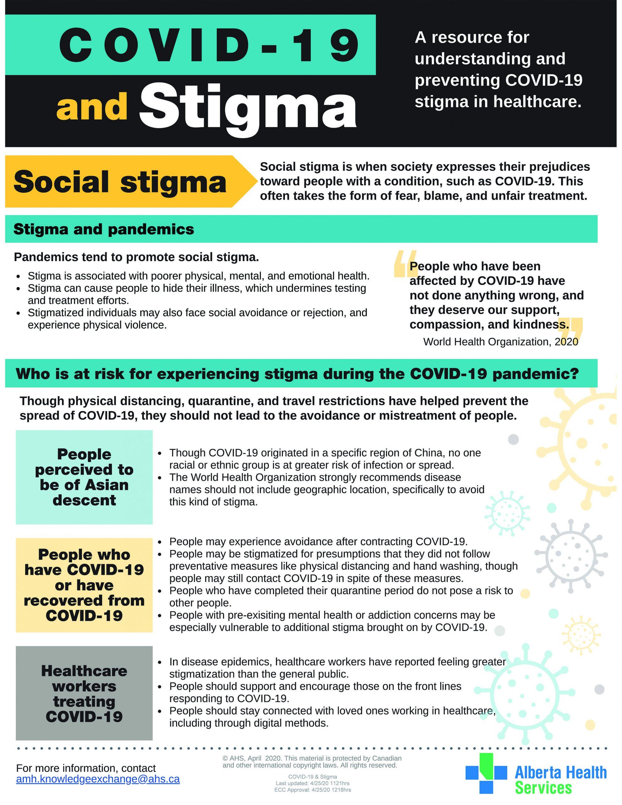 COVID-19 and Stigma - Page 1