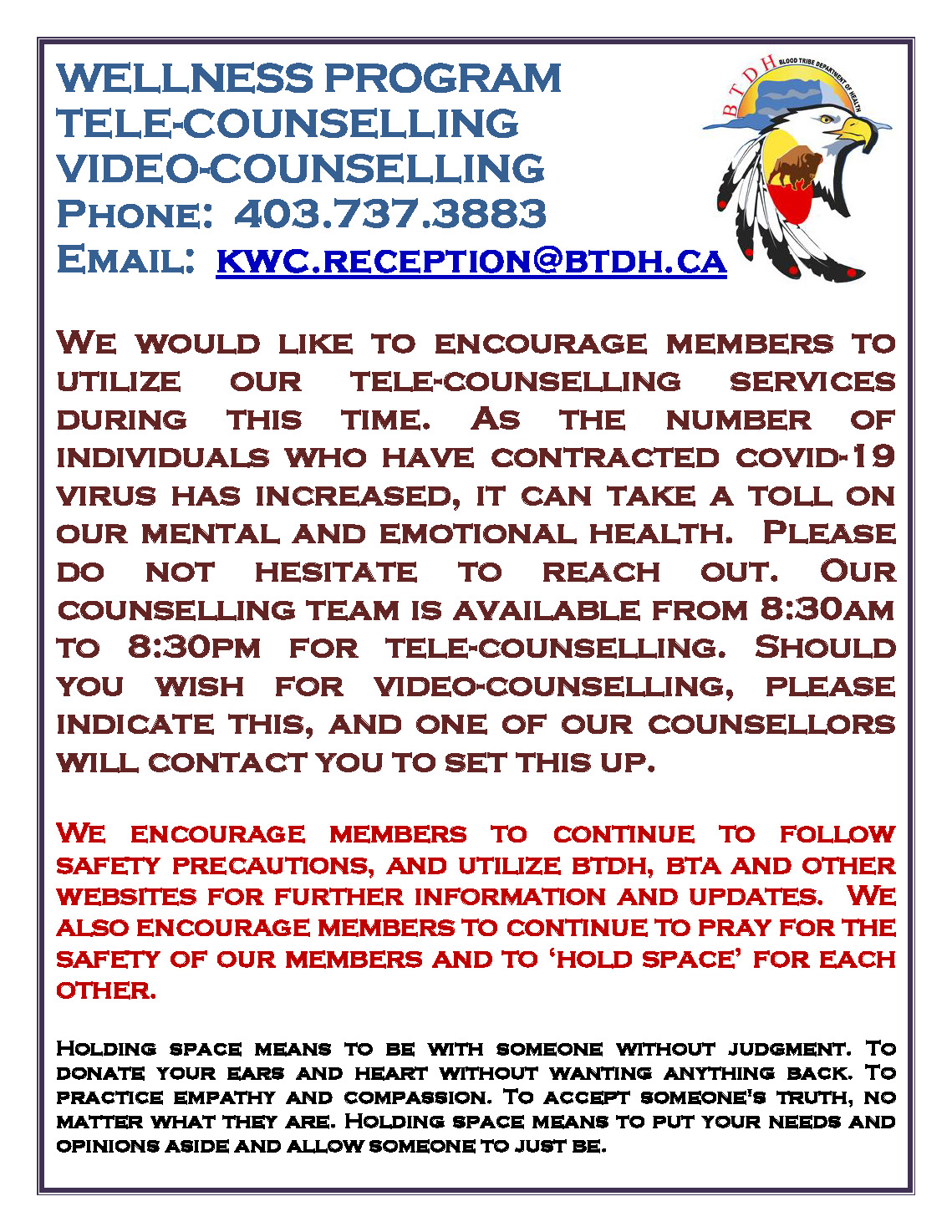 Tele-Counselling Services