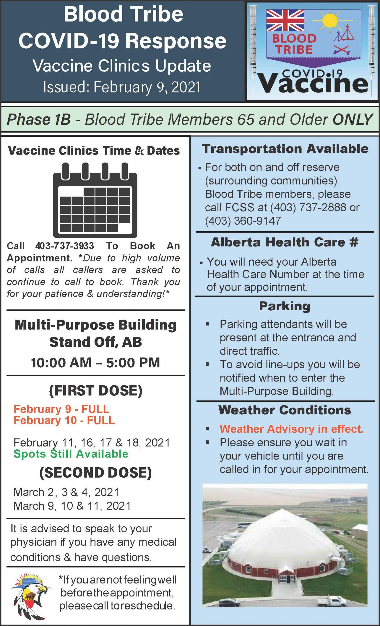 COVID-19 Vaccine Clinic Update - February 9, 2021