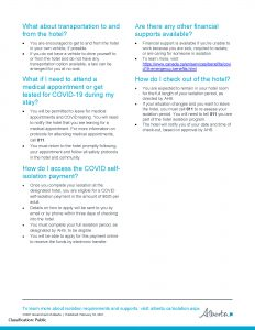 Isolate or Quarantine in a Hotel - Page 1