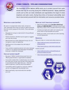 COVID-19 Cyber Threats Tips
