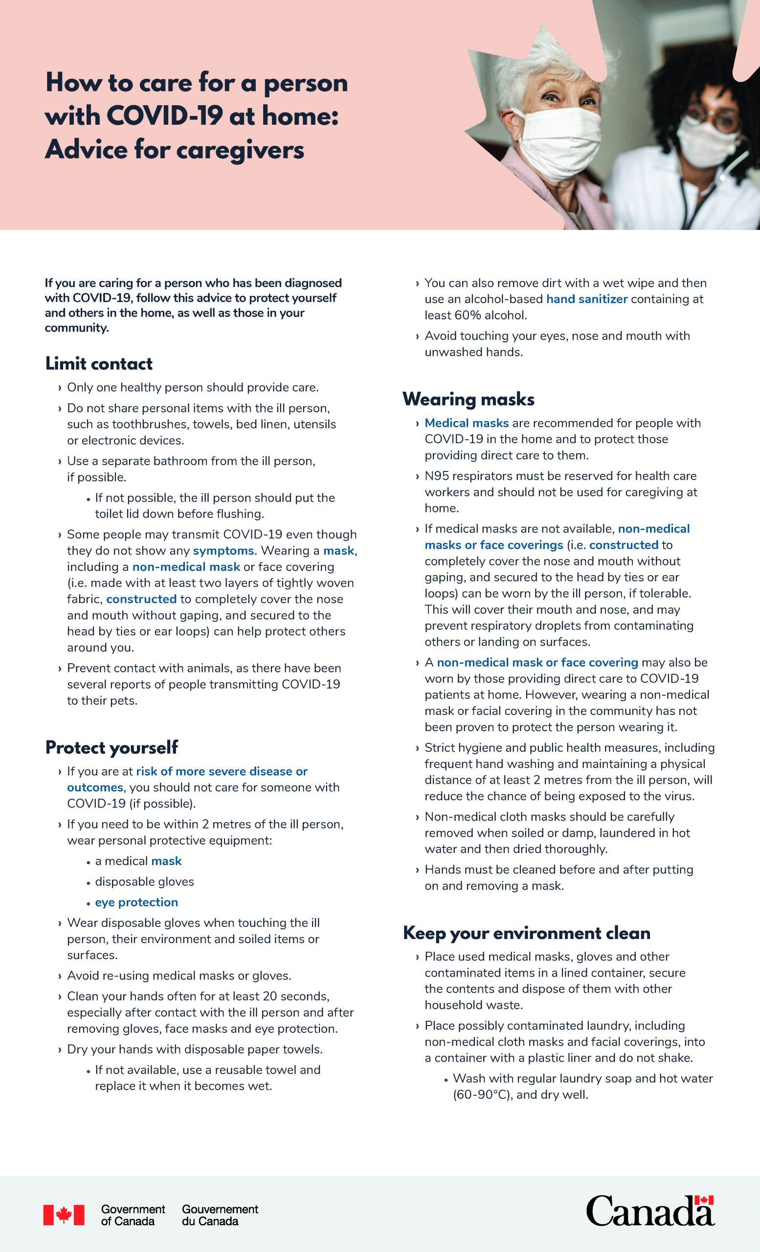How to Care for a Person with COVID-19 - Page 1
