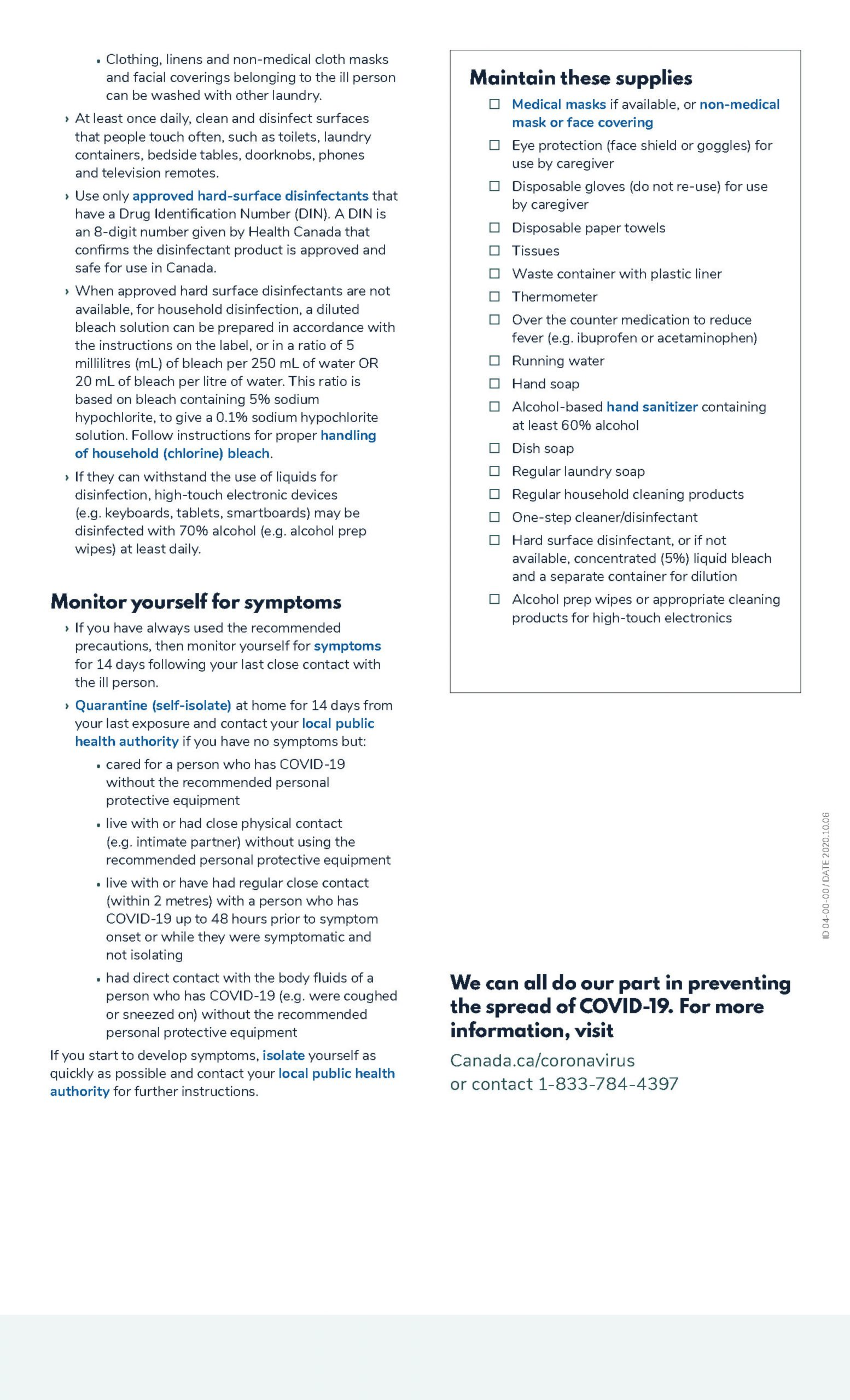 How to Care for a Person with COVID-19 - Page 2