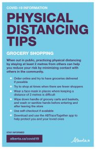 Physical Distancing Tips (Grocery) - Poster