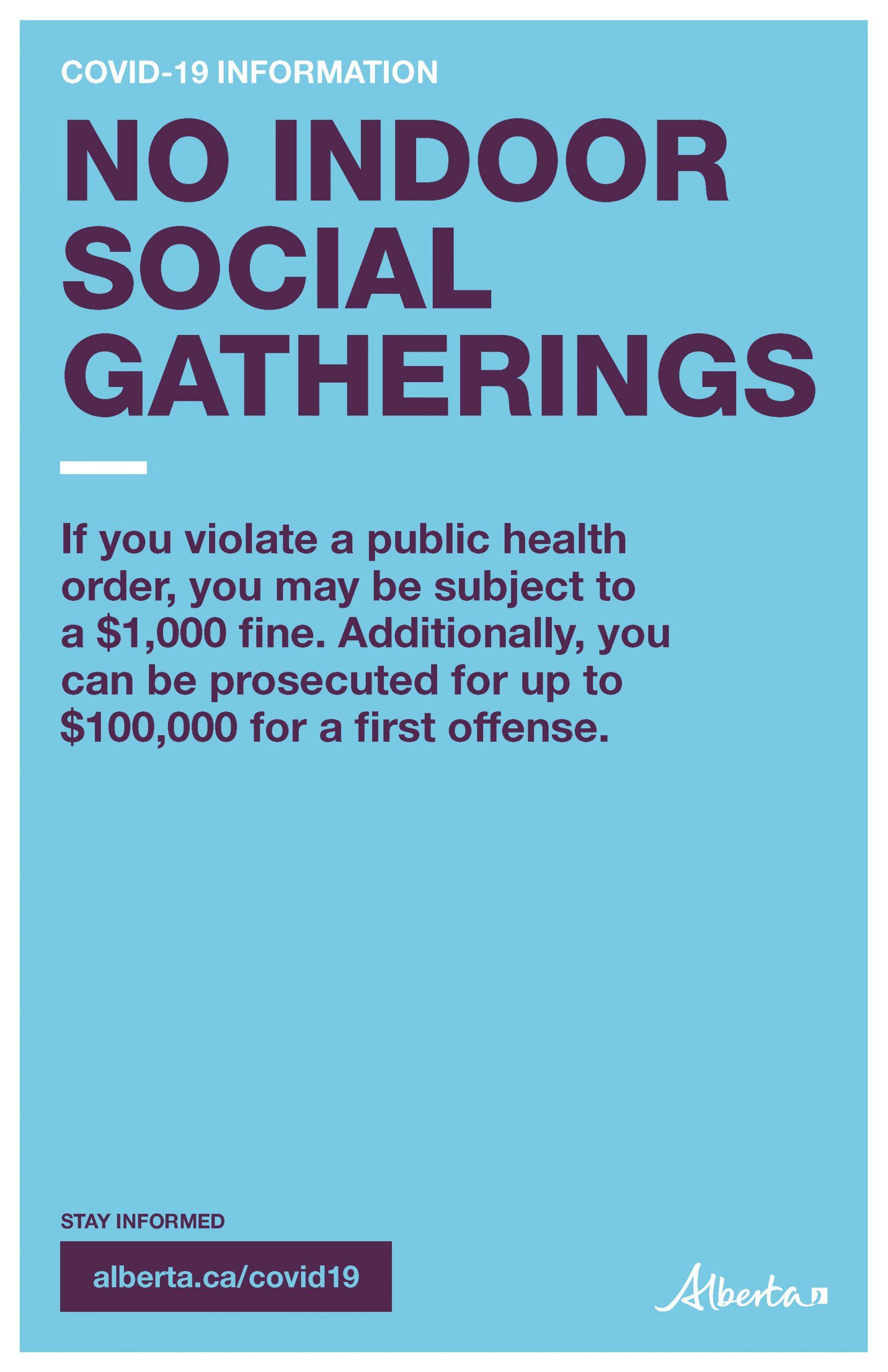 No Indoor Social Gatherings - Poster