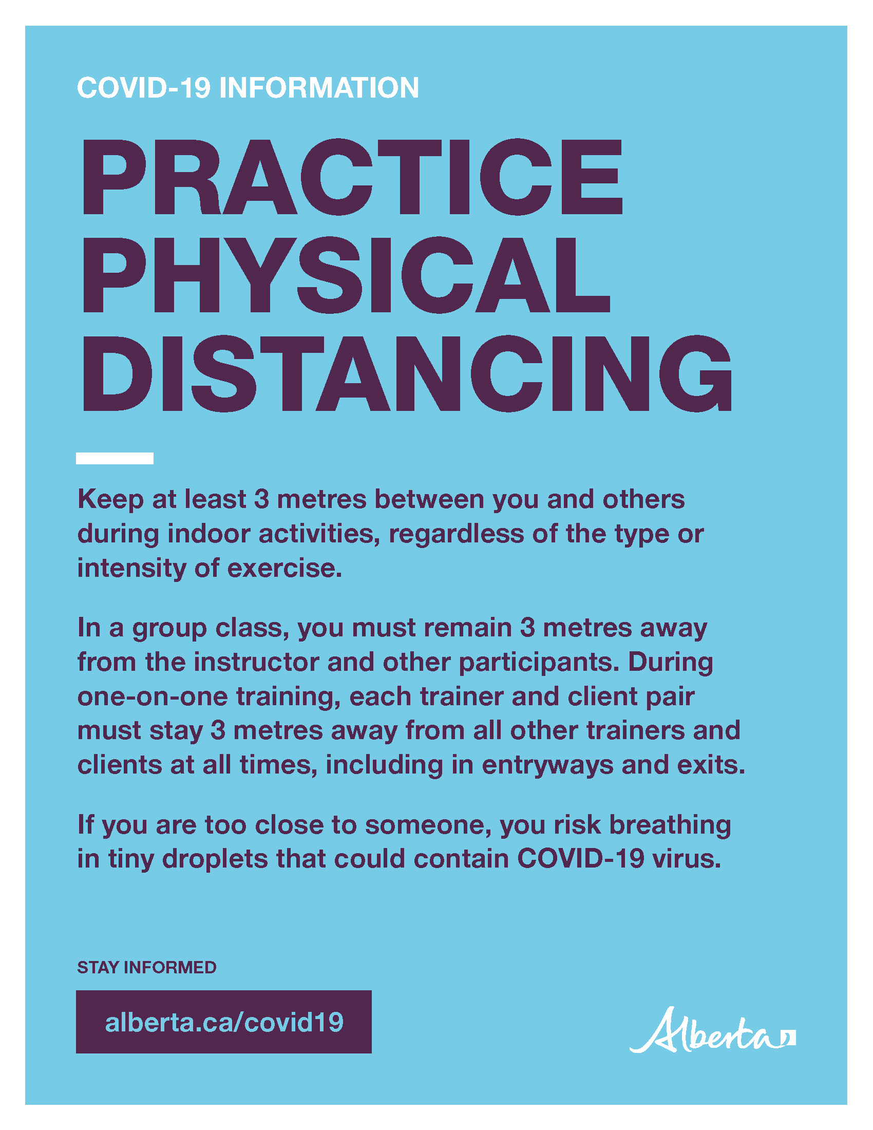 Physical Distancing (Requirements for Indoor Fitness Tips) - Poster