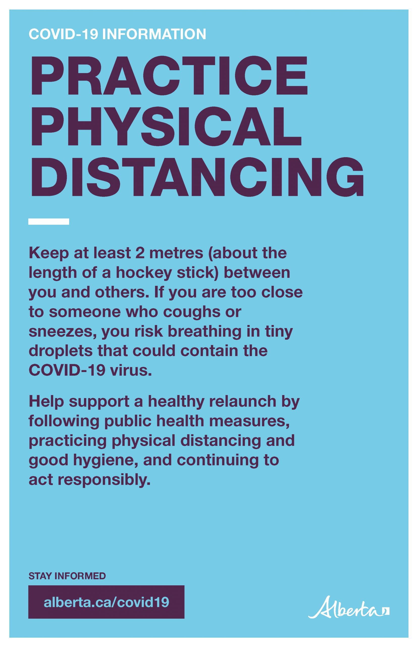 Physical Distancing (Decrease Risk Exposure to COVID-19) - Poster