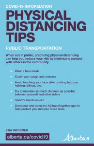 Physical Distancing Tips - Poster