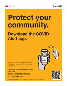 Download the COVID-19 Alert App - Poster