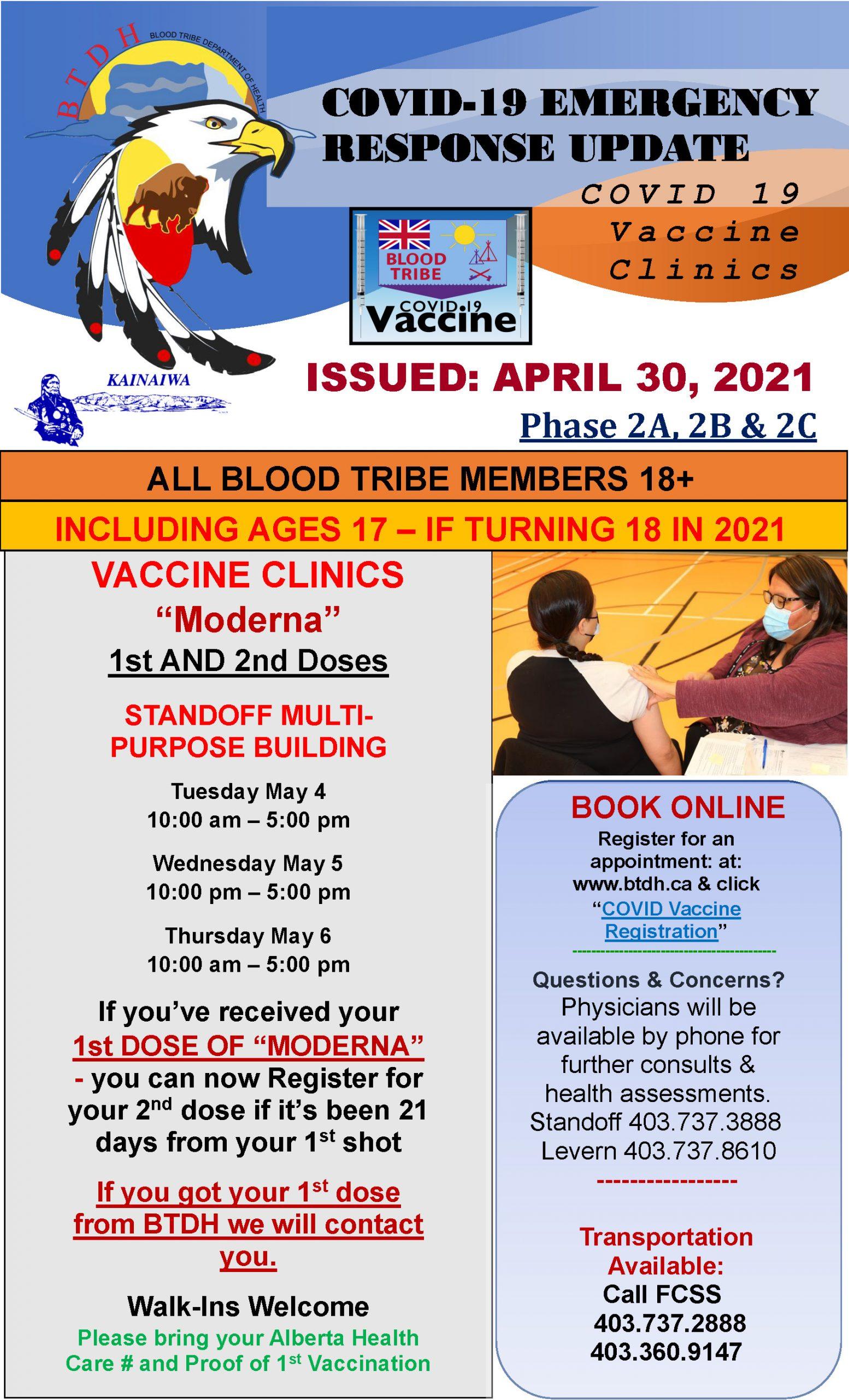 COVID-19 Vaccine Clinic Update - April 30, 2021