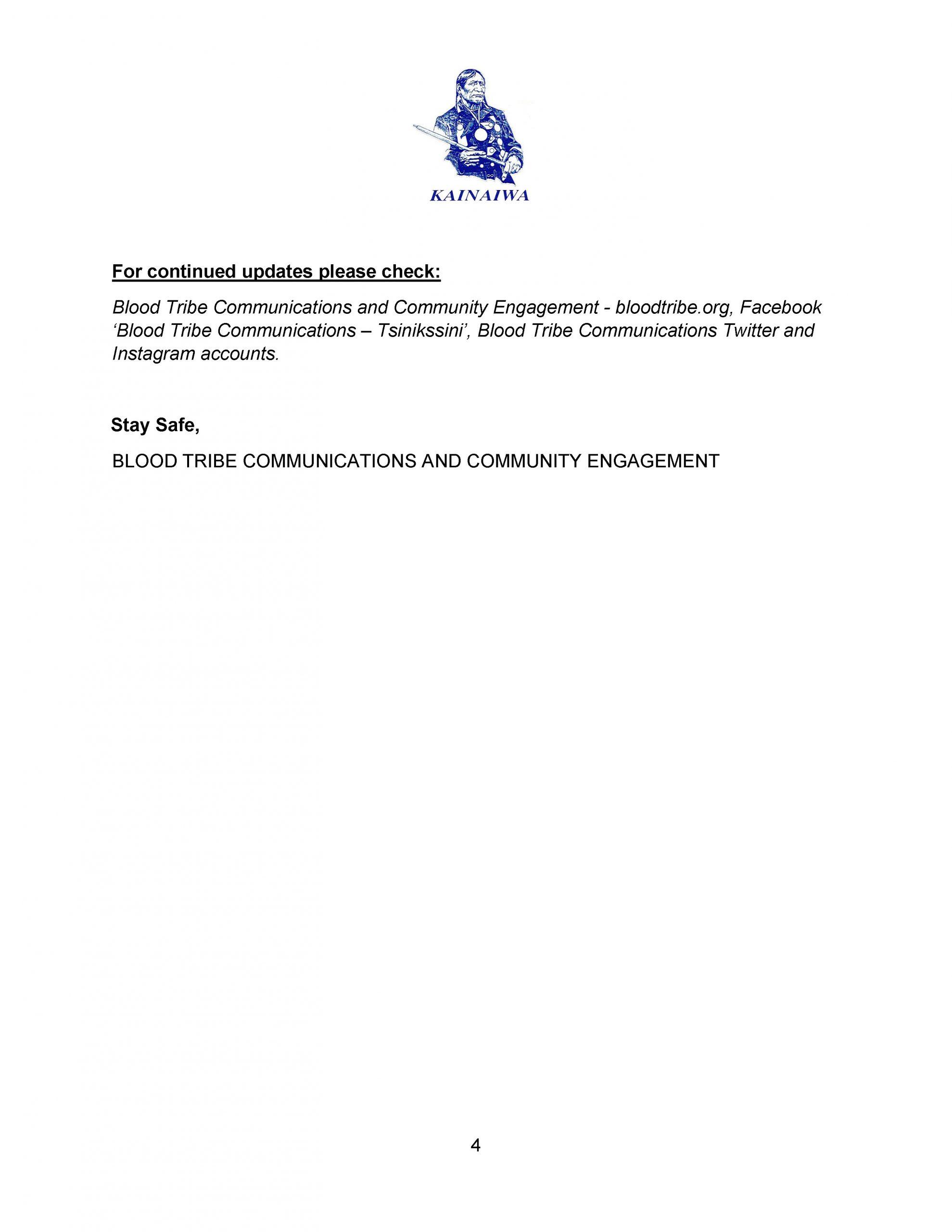 Blood Tribe COVID-19 Response Bulletin – (April 9, 2021) - Page 4