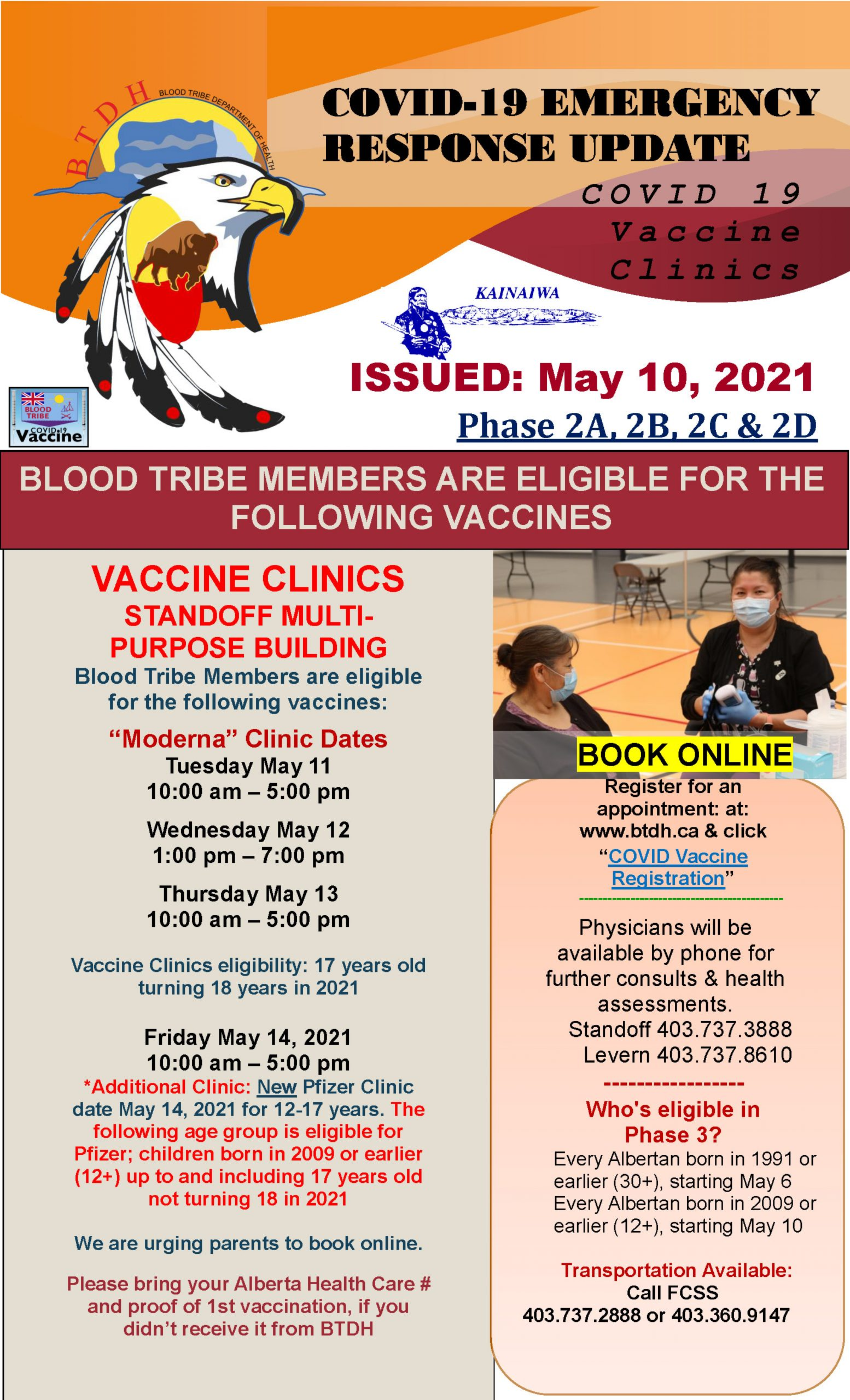 COVID-19 Vaccine Clinic Update - May 10, 2021