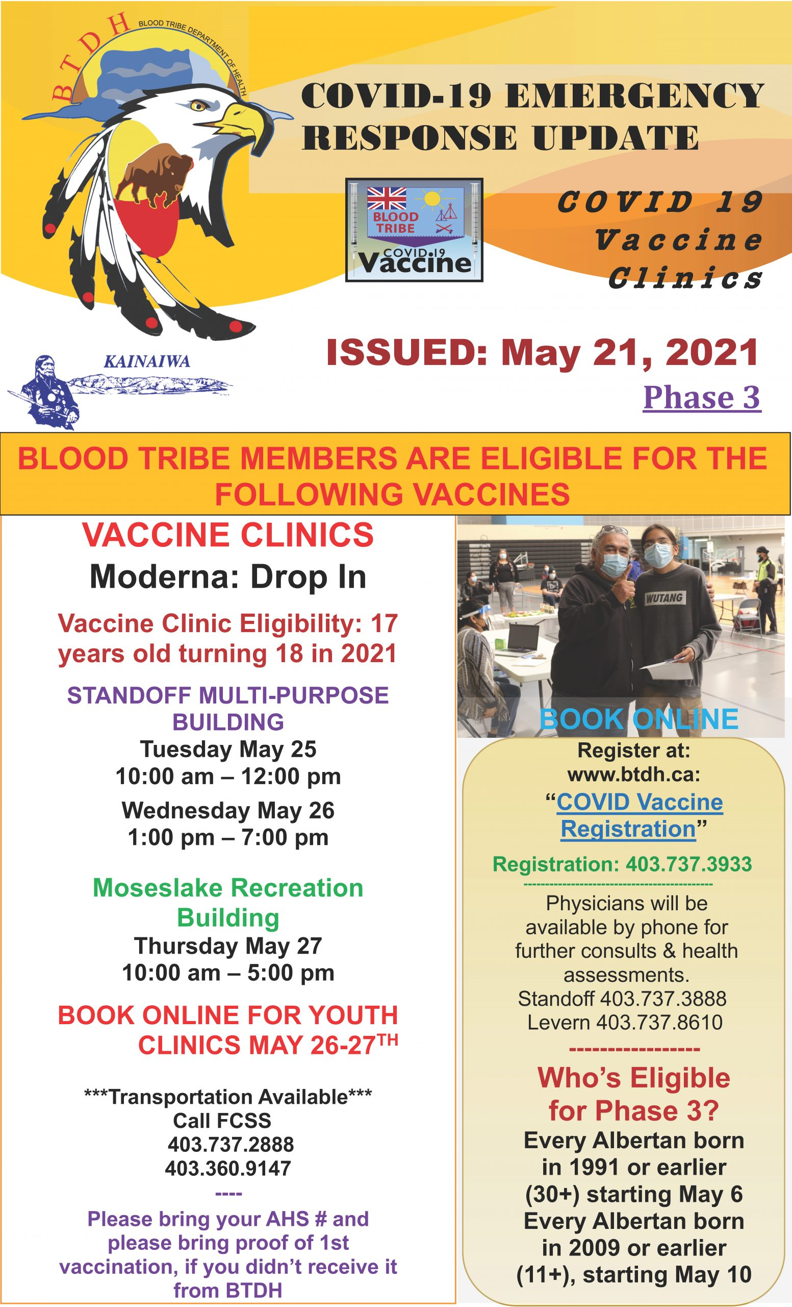 COVID-19 Vaccine Clinic Update - May 21, 2021