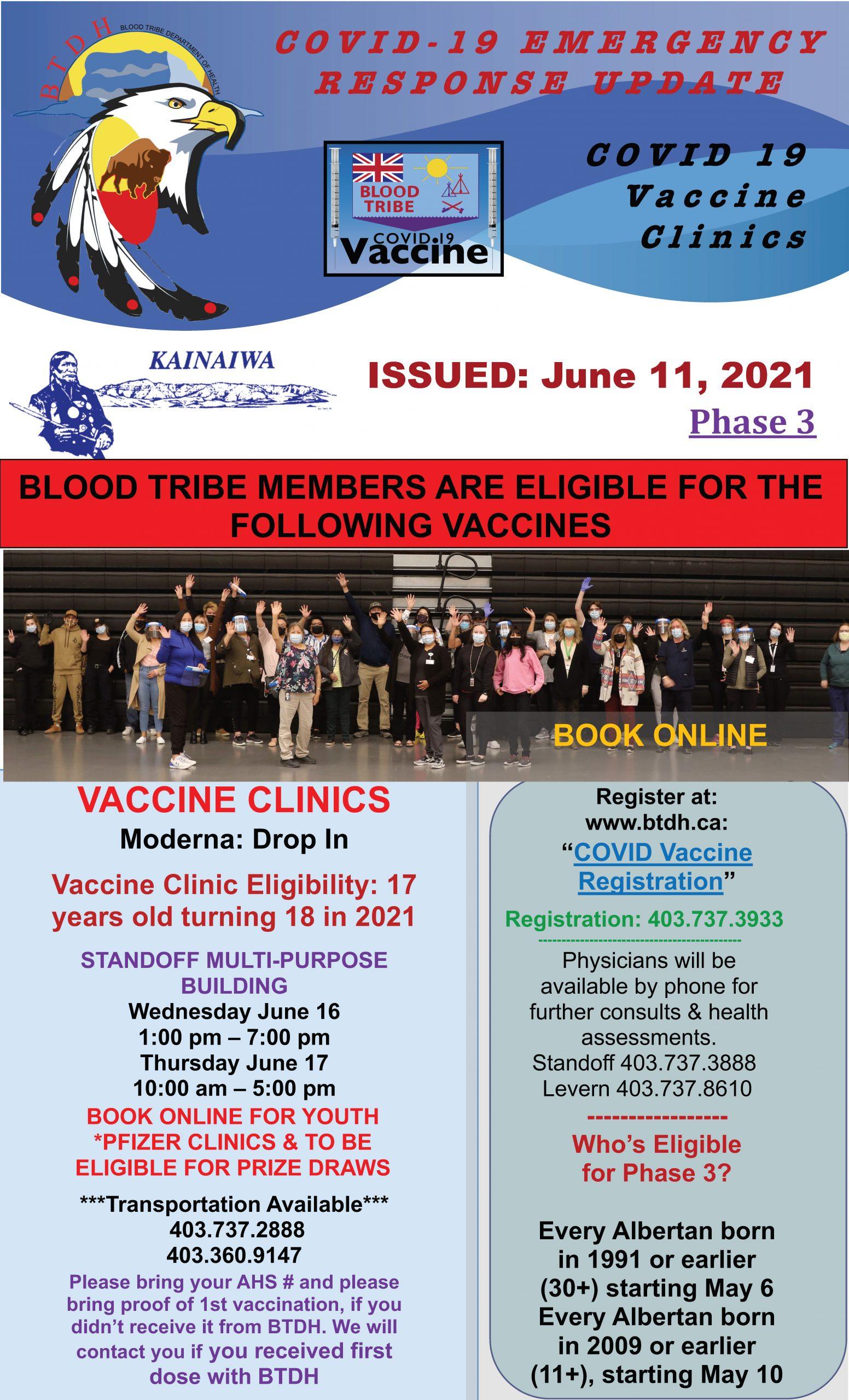 COVID-19 Vaccine Clinic Update - June 11, 2021