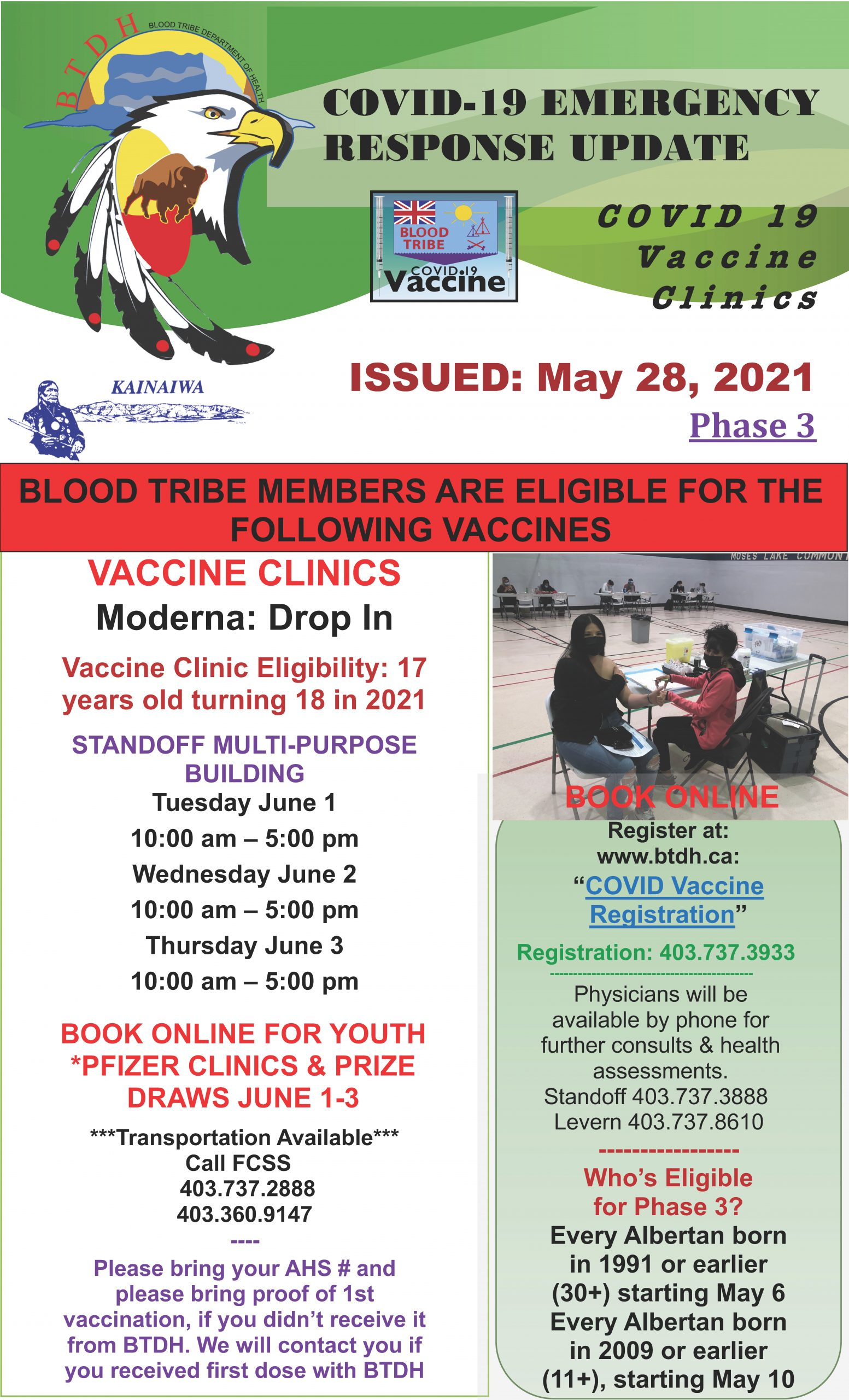 COVID-19 Vaccine Clinic Update - May 28, 2021