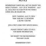 Blood Tribe Membership Notice Update – Band Membership Cards – (July 20, 2021)