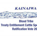 COMMUNIQUE UPDATE TREATY ENTITLEMENT TO CATTLE SPECIFIC CLAIM – (September 13, 2021)