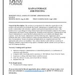 Job Opportunity – Assistant Export Administrator – (Kainai Forage)