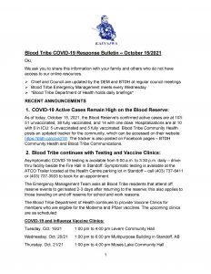 COVID-19 Response Bulletin - October 15, 2021 - (Page 1)